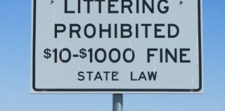 Littering Fines Higher Than Texting and Driving Fines