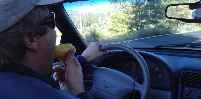 Distracted Driving: Eating and Drinking Behind the Wheel