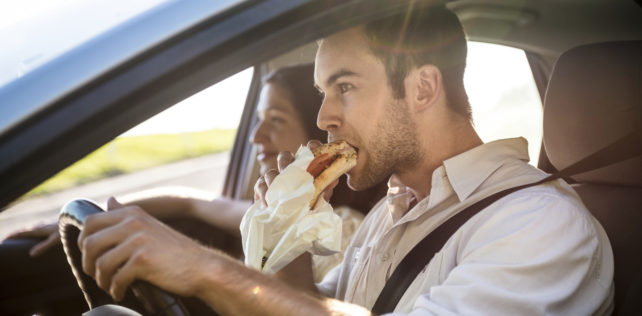 Is It Illegal to Eat and Drive in California?