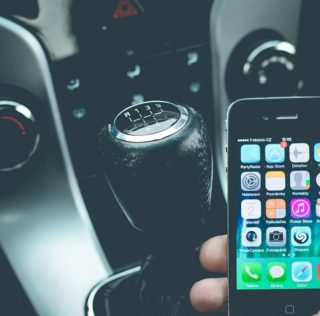 Iphone Distracted Driver in Car